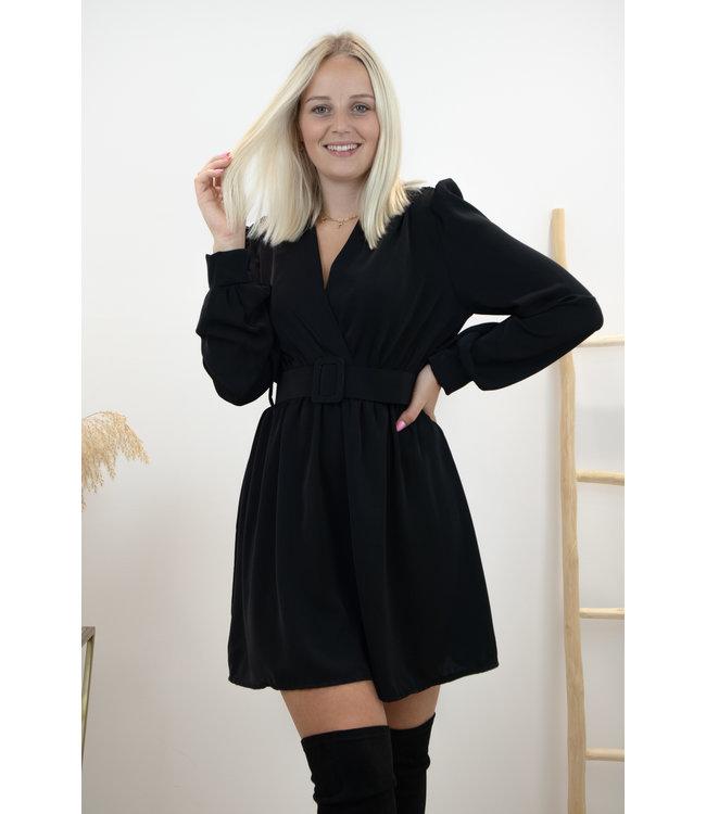 Kiki belt dress - black