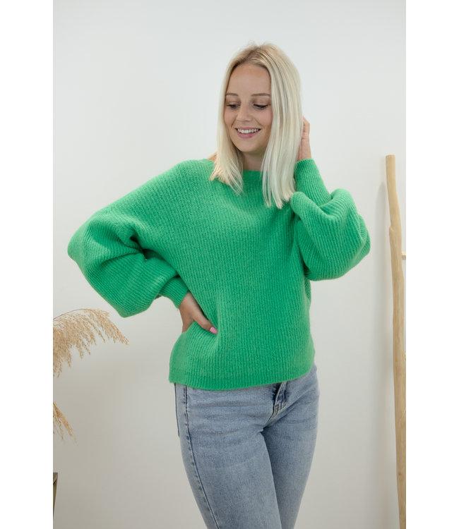 Lia round sweater - green