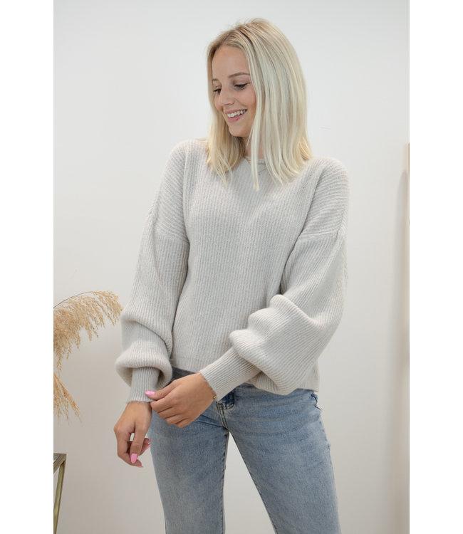 Lia round sweater - nude