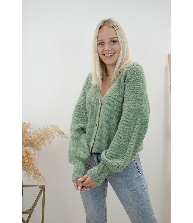 Button belle gilet - sage green