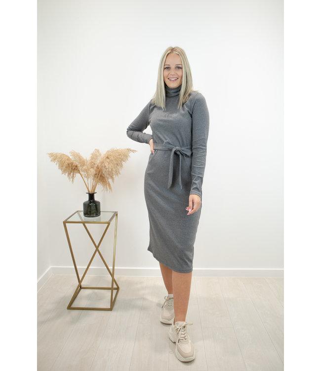 Collar dress - grey