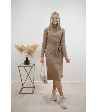 Collar dress - mokka
