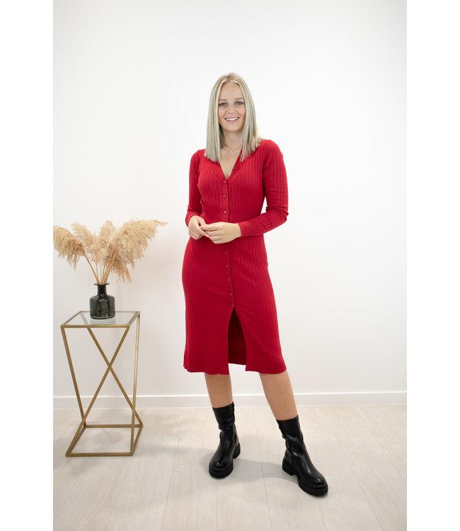 Alina silhouette dress - bordeaux