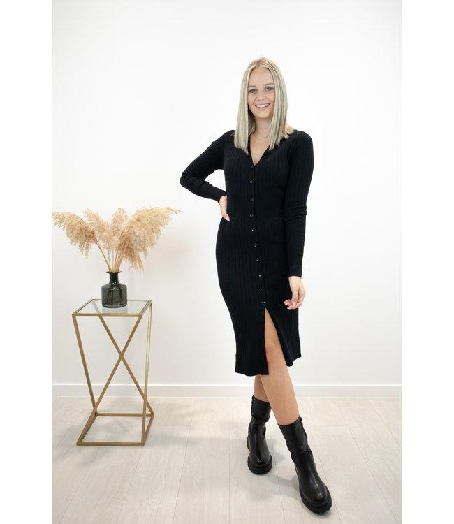 Alina silhouette dress - black