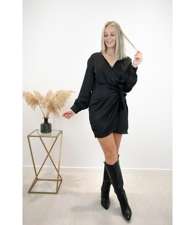 Oh so silky dress - black