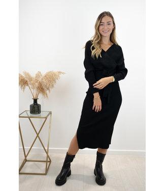 Norie silhouette dress - black