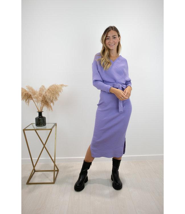 Norie silhouette dress - Lila