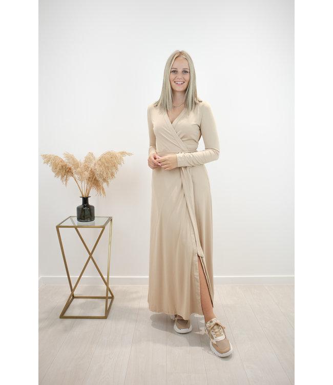 Elli wrap dress - camel