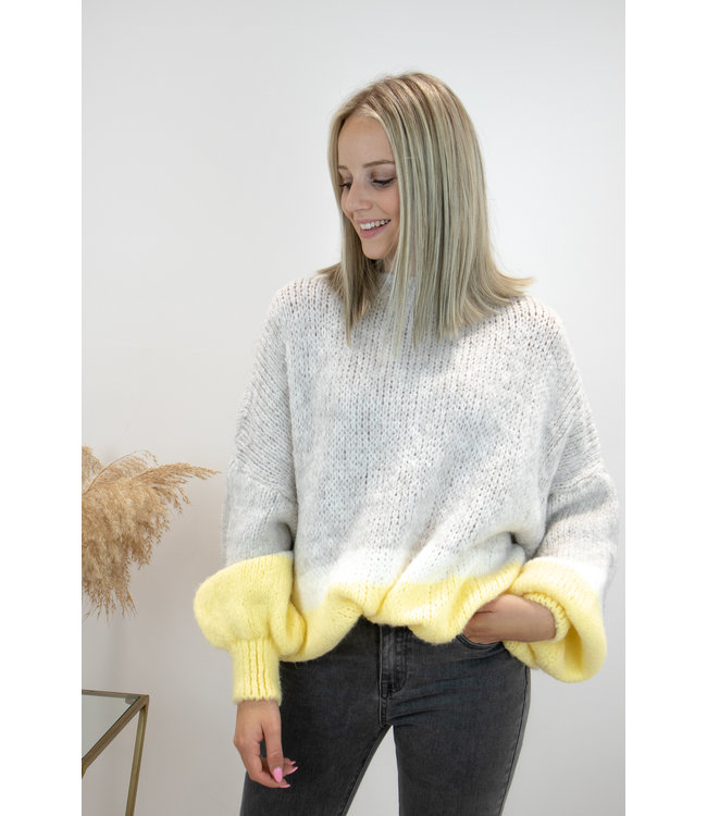 Triple cosy sweater - yellow