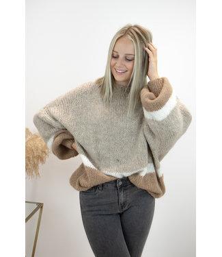 Triple cosy sweater - camel