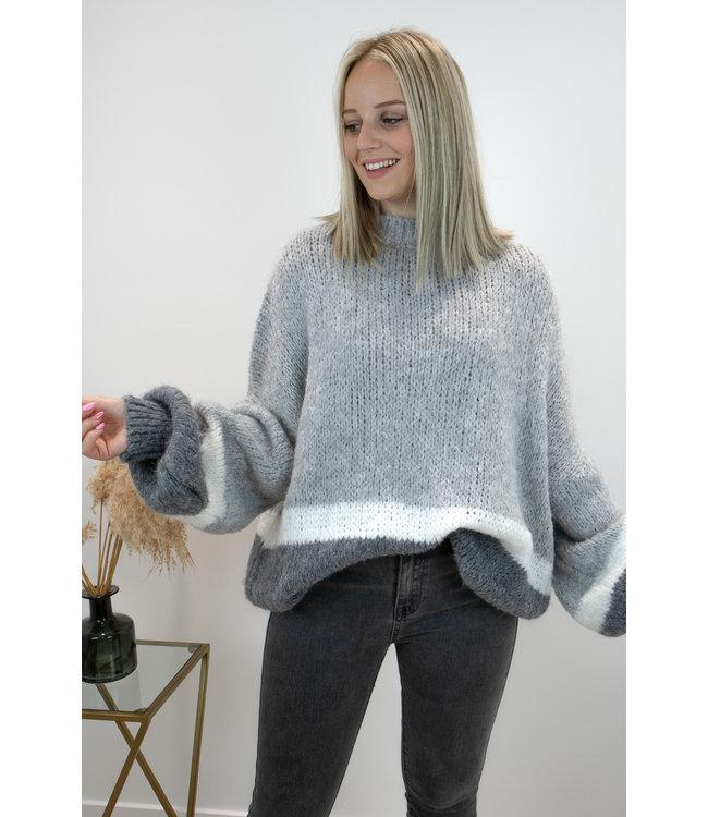 Triple cosy sweater - grey