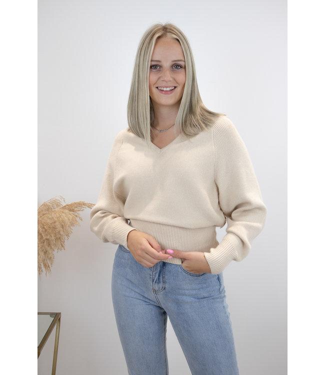 Lace sweater - ecru