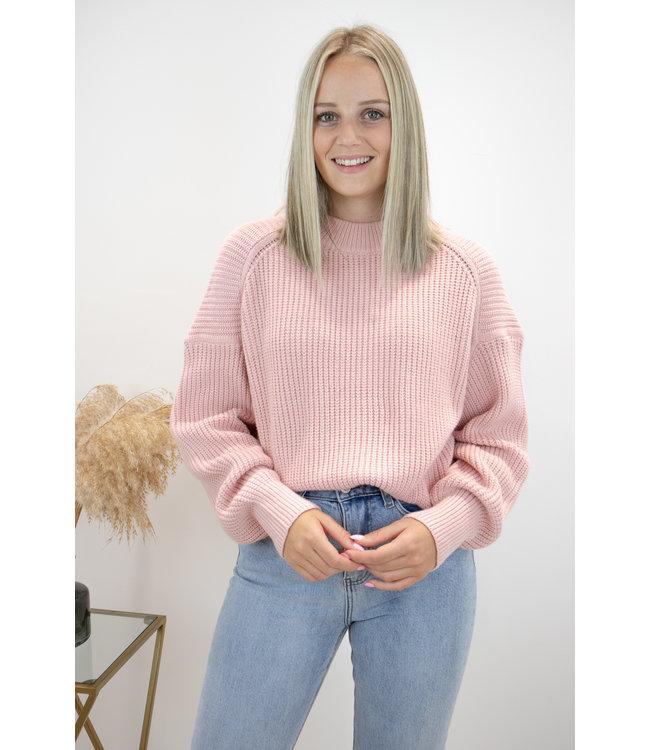 Liv knit sweater - pink