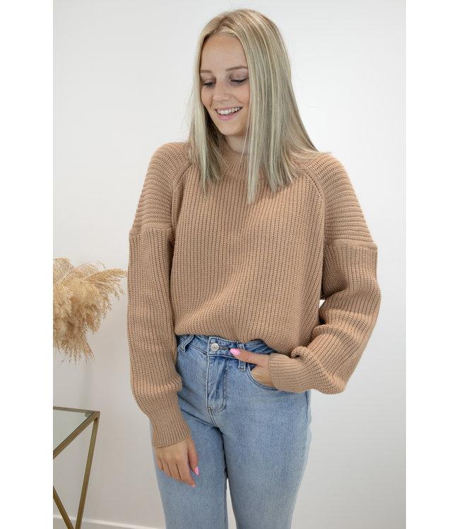 Liv knit sweater - camel