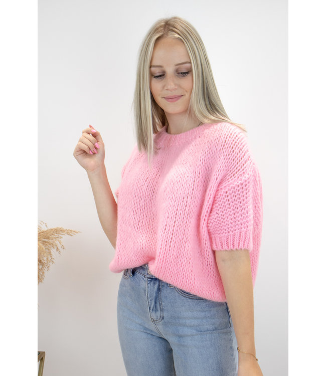 Felicia short sleeve - candy pink