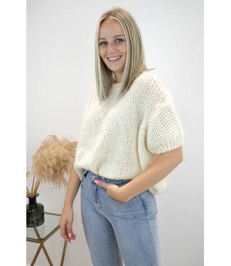 Felicia short sleeve - ecru