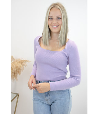 Felicia square shirt - Lila