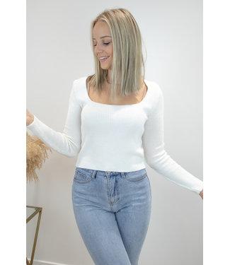Felicia square shirt - ecru