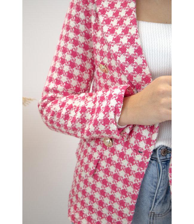 Chanel inspired blazer - pink
