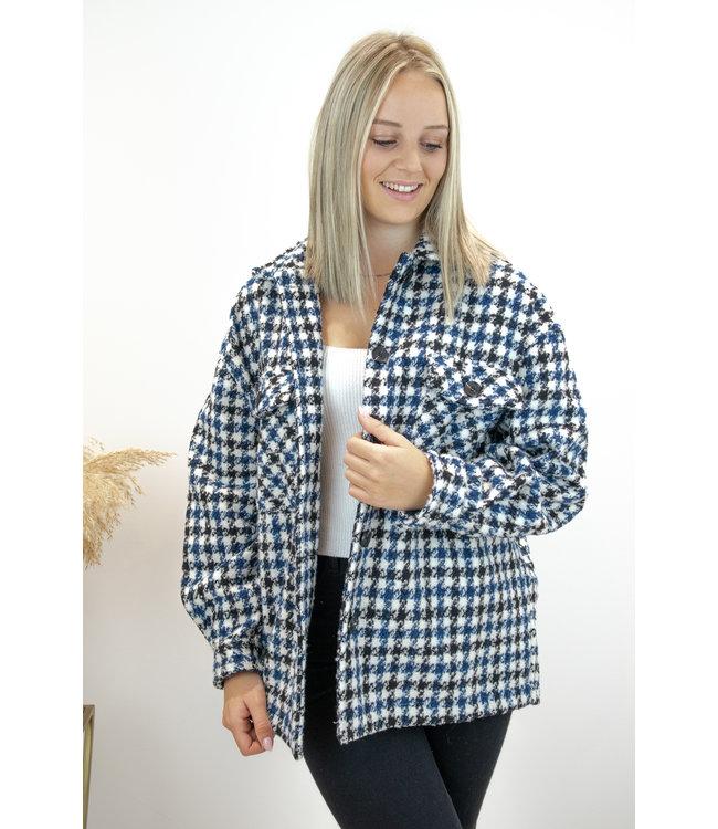 Carreaux jacket - blue