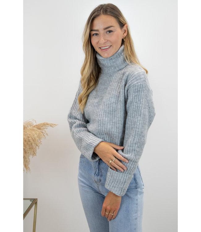 Col sweater short - grey