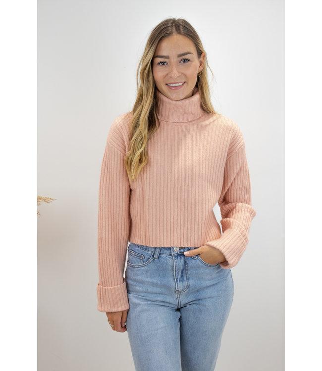 Col sweater short - rose