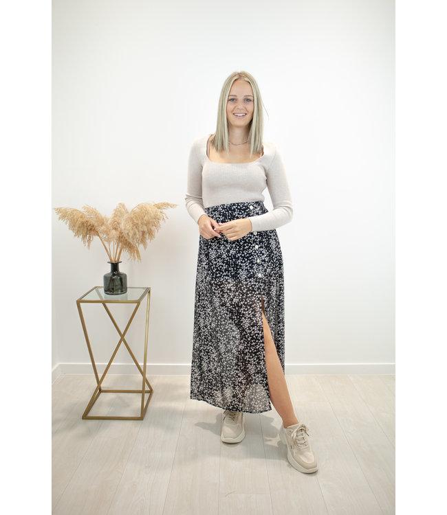 Bloom split skirt - black