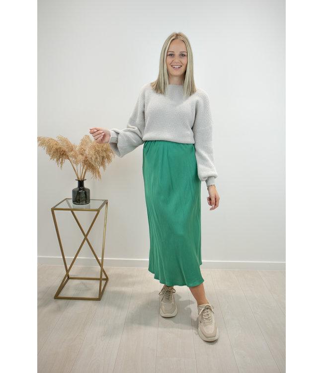 Mimi satin skirt - esmerald green