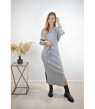 Norie silhouette dress - grey