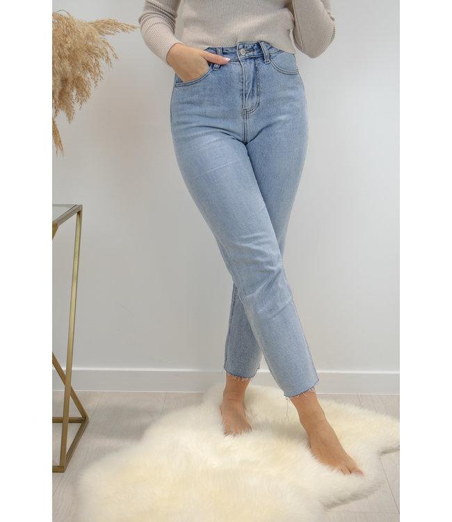 Marilyne hight waist jeans - cropped straight light blue