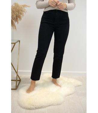 Marilyne hight waist jeans - cropped straight black