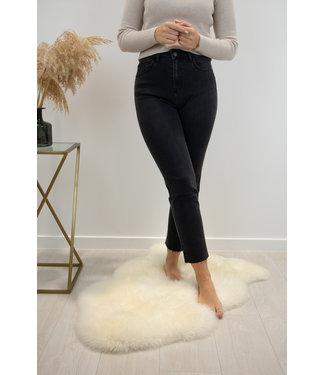 Demi high waist - cropped straight black