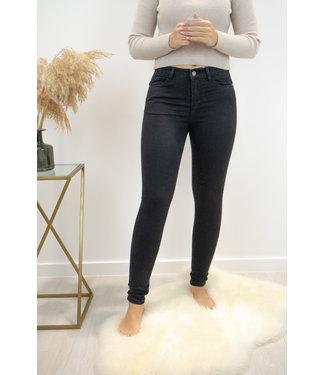 Faja mid waist skinny - black