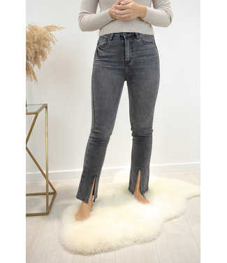 Luna straight jeans - dark grey