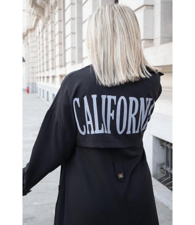 California trenchcoat - black