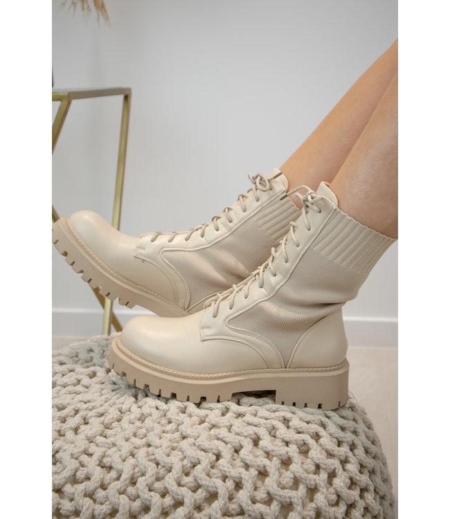Liv boots - ecru
