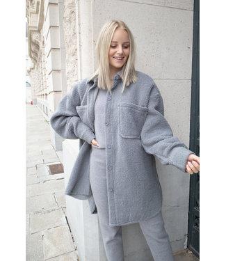 Teddy jacket - grey