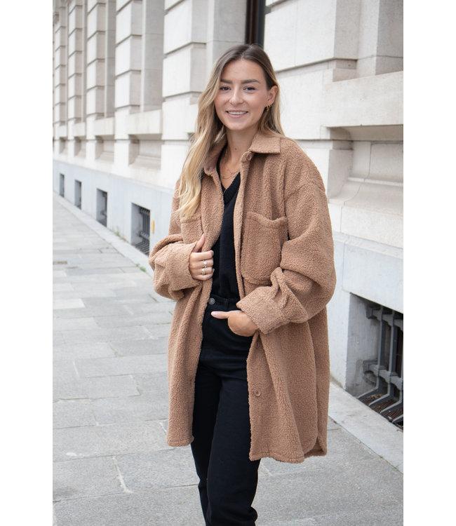 Teddy jacket - camel