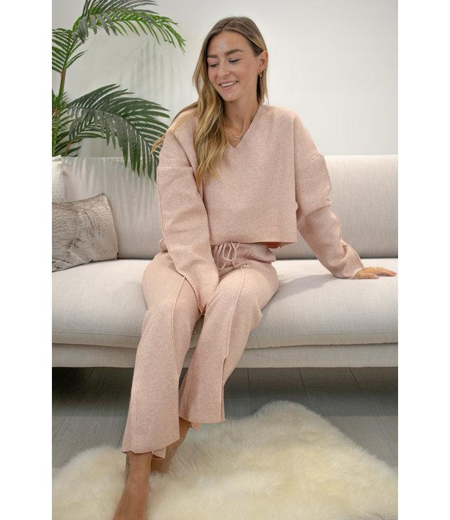 Flair split homesuit - pink