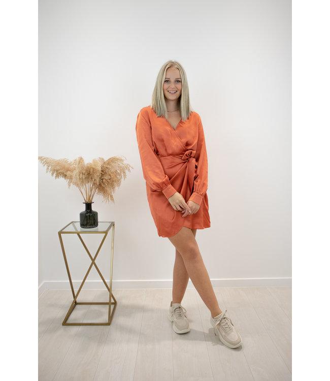 Oh so silky dress - rouille orange