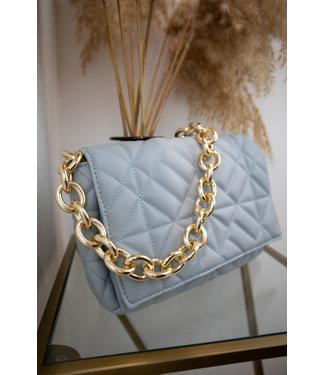 Veneta chain bag - steel blue
