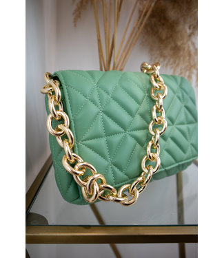 Veneta chain bag - green