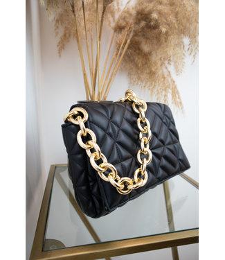 Veneta chain bag - black