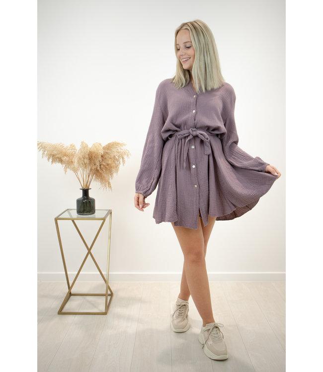 Dreamy tetra dress - deep taupe