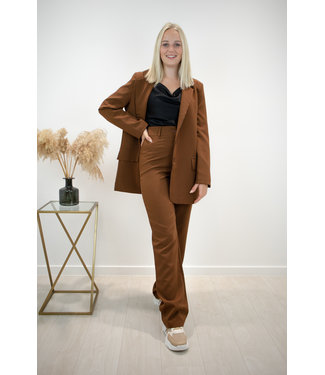 Isa suit WIDE trouser - cacao