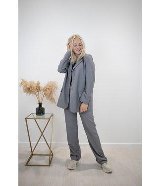 Isa suit WIDE trouser - grey