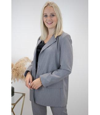Isa suit blazer - grey