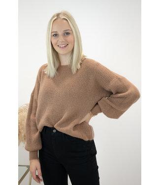 Lia round sweater - camel