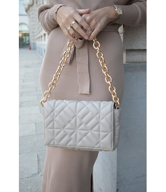 Veneta chain bag - nude