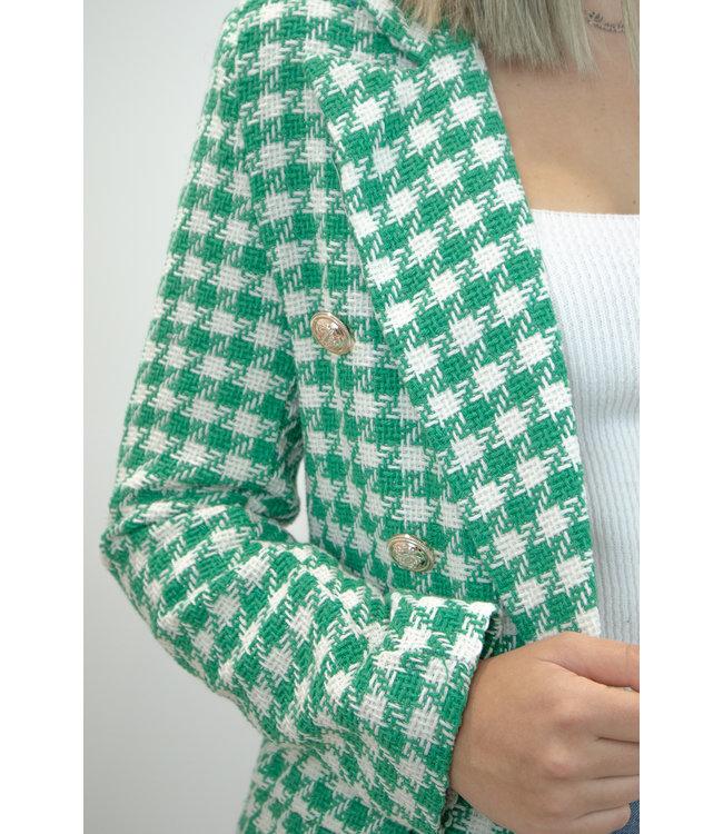 Chanel inspired blazer - green